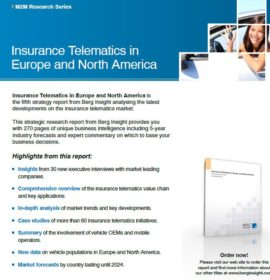 Report published on Insurance Telematics in Europe and North America