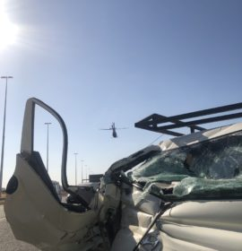 Gauteng: Driver airlifted after slamming into the back of a truck
