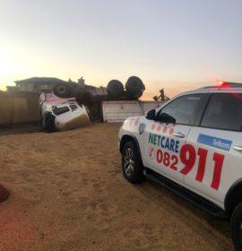 Gauteng: Truck driver injured in rollover