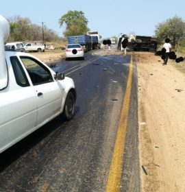 Serious truck collision on the R36