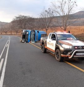 One injured in a truck rollover in Nelspruit