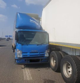 One injured in a truck collision on the R21