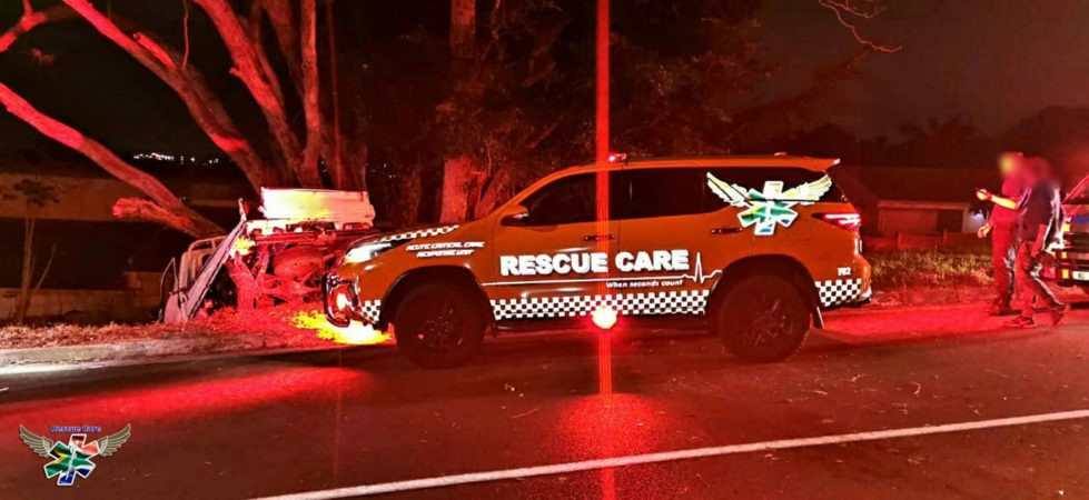 Occupant entrapped in a single-vehicle road crash in Westville
