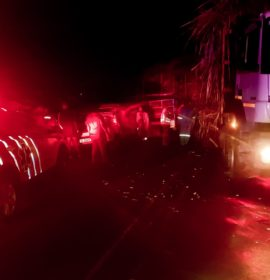 Two injured in a collision between a truck and vehicle on the R102