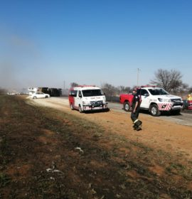 Man killed when truck and car collided on the R501