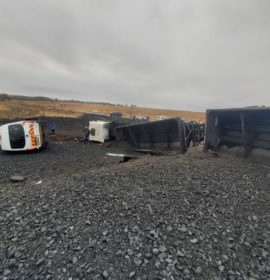 Truck and minibus collide leaving one dead, another injured in Kinross