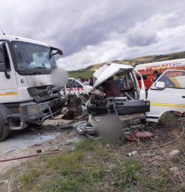Fatal collision on the St Faith's road near Oshabeni