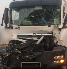 One seriously injured in a two-truck collision on the N3