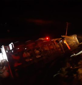 One person injured in a tanker rollover on the N3 South at Montrose