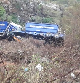 Truck collision along the R36