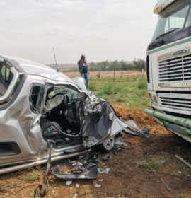 Truck and bakkie collide leaving man critical outside Hendrina