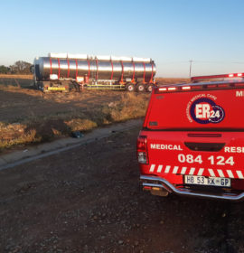Car and truck collide leaving three injured on the R57 in Vanderbijlpark.