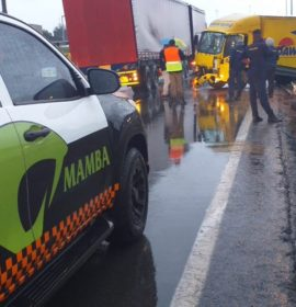 Truck collision leaves one injured in Edenvale