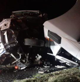 Two injured as trucks collide on the N5 near Kestell