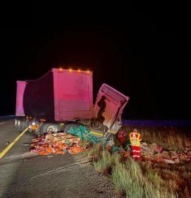 Truck collide on the N1 close to Tierpoort