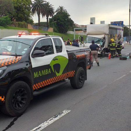 Multiple truck collision on the N3 in Bedfordview