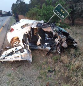 Man killed when truck and car collide on the R59 in Sasolburg