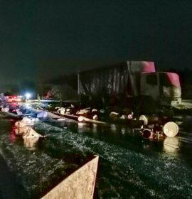Three trucks collide on the N2 between South Port and Hibberdene