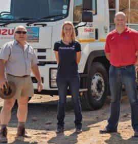 ISUZU helps farmers survive drought