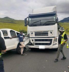 Two injured in a truck collision on the N3