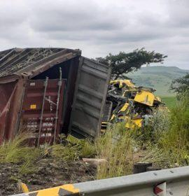 One injured in a serious truck collision in Harrismith