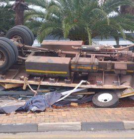 Truck rollover leaves one injured in Bedfordview