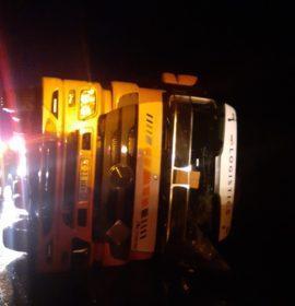 Truck rollover on the N3 near Harrismith
