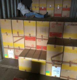 Suspects arrested and counterfeit goods uncovered at a warehouse in Crown Mine