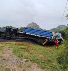 One seriously injured in a truck collision on the R71