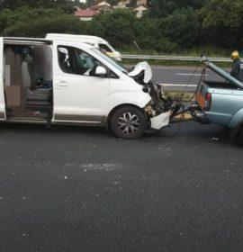 Three injured in a collision with a truck in Durban