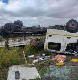 Multiple people injured in a single truck rollover