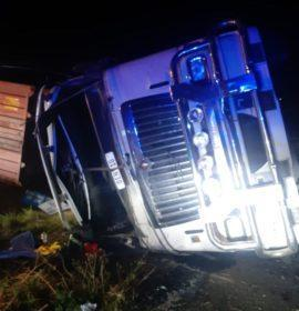 One injured in a truck rollover on the N3
