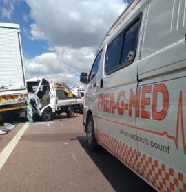 Two injured in a truck collision on the N14