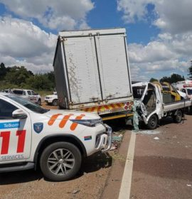 Two injured in a collision on the N14 near Jean Avenue in Centurion Pretoria.