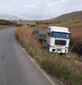 Truck collision on the R74