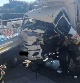 One injured in a truck collision in Bedfordview