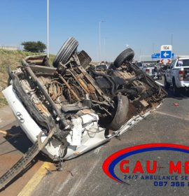 Gau-Med Emergency Services attended to a multiple vehicle collision on the N3