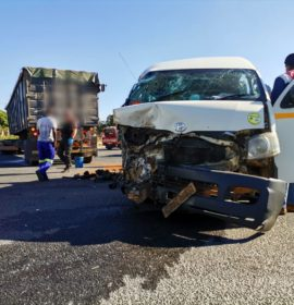 12 Injured as taxi collides with a truck on the N2, Murchison