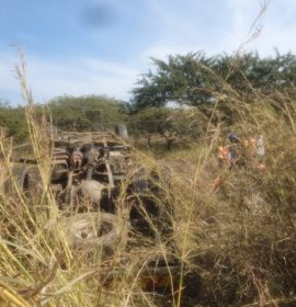 Two injured in a truck rollover on the R34, Jabulani