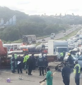 Two killed, 3 injured in a collision on the N2 South bound near the NPC Cement Factory