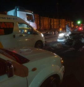 One injured as vehicle crashes into back of a truck at the Ngwelezane intersection