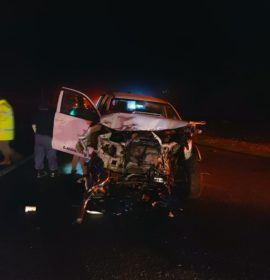 Truck and bakkie collide, leaving one dead, four injured in Mica