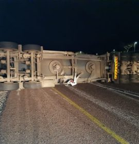 One injured in a truck and vehicle collision on the N1