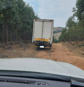 Hijacked truck recovered by Tracker officials