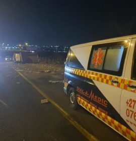 One injured in a truck crash on the N1 north past Olifantsfontein road in Midrand.