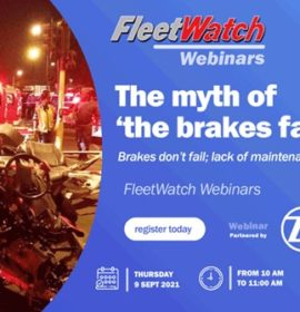 Don't forget to register for the Webinar – The myth of 'the brakes failed'