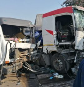 Seriously injured truck driver freed using jaws of life in Umbilo Durban
