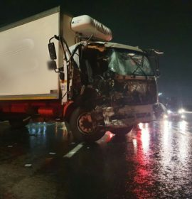 Driver ejected from truck crash at Linbro Park