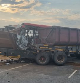 Man killed when bus and truck collided in Lenasia