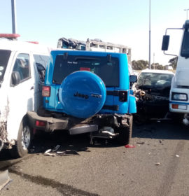 Truck collision leaves four injured, including a medic in Naturena